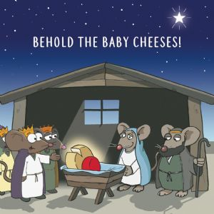 CANX40 – Baby Cheeses Funny Christmas Card